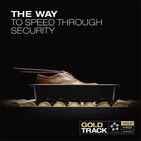 Wherever you see the Gold Track logo, we'll speed you through airport security