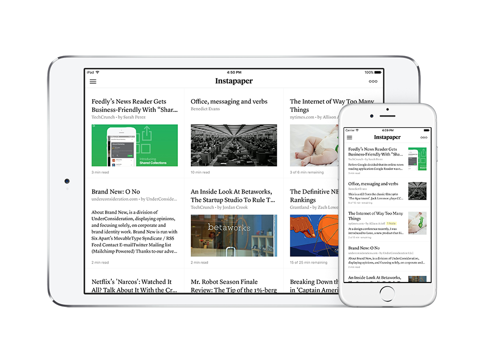 Instapaper 7 for iOS 9 launched with thumbnail images, multitasking, PiP video, and more! http://t.co/LJqKV5sH45 http://t.co/MQrolMftVM
