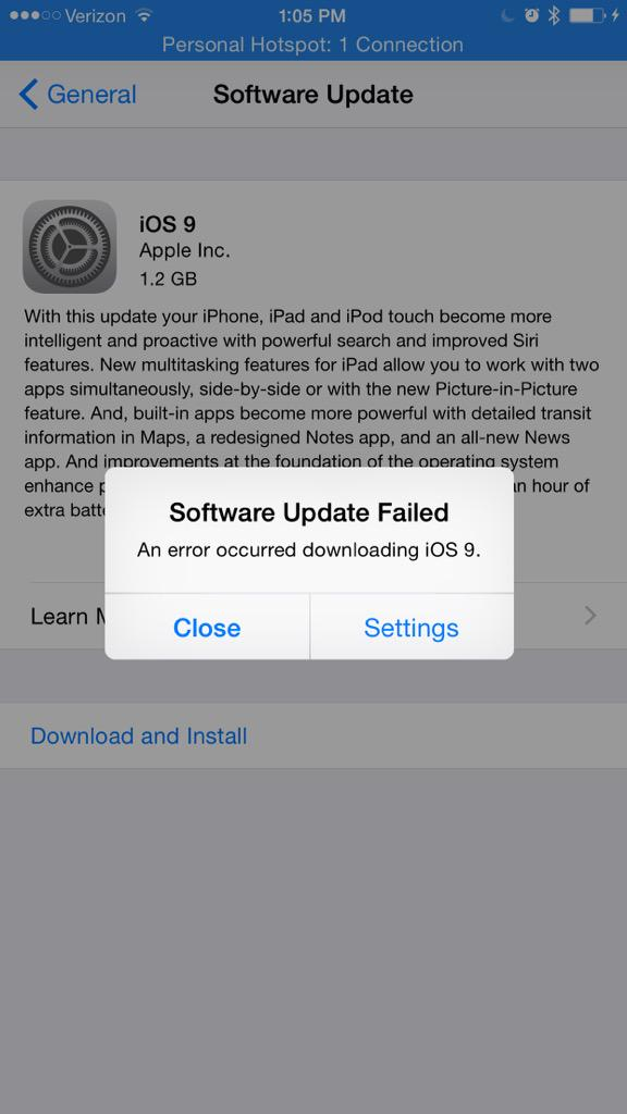 Way to go @Apple. Thanks for killing my #iOS9 buzz. http://t.co/NzG4EXTzIi