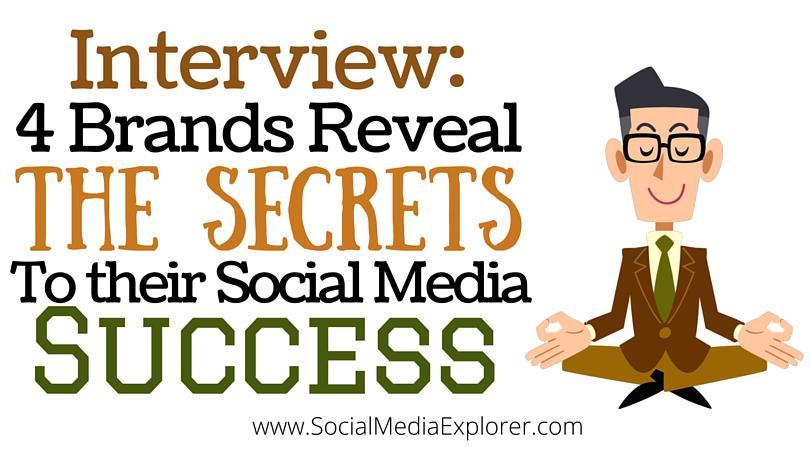 4 brands discuss their secrets to social media success with @sarahzpike:  https://t.co/ZerVf6m76M #smm http://t.co/KkTfvpzxa5