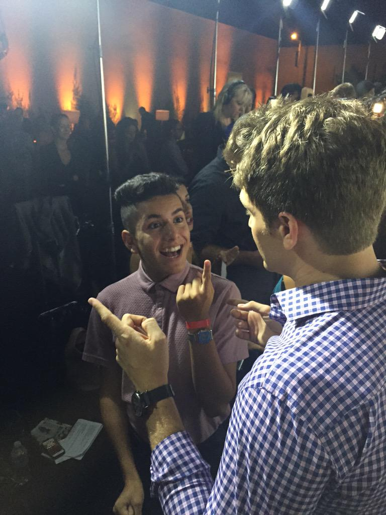 Best interview ever! @LOHANTHONY  and @KeeganAllen @people #OnesToWatch #wearitwell http://t.co/wNq5KwQGzg