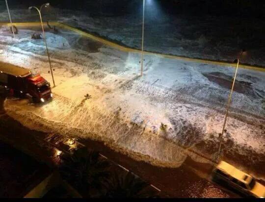Así se ve la costa de #Coquimbo #Chile ante la llegada de olas del #tsunami. http://t.co/bt1YyOaVHx