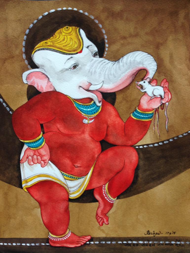 Jaidev Jaidev jayamangala murté -- #vinayakachaturthi #krishnafortoday http://t.co/6rR5PqEvWz