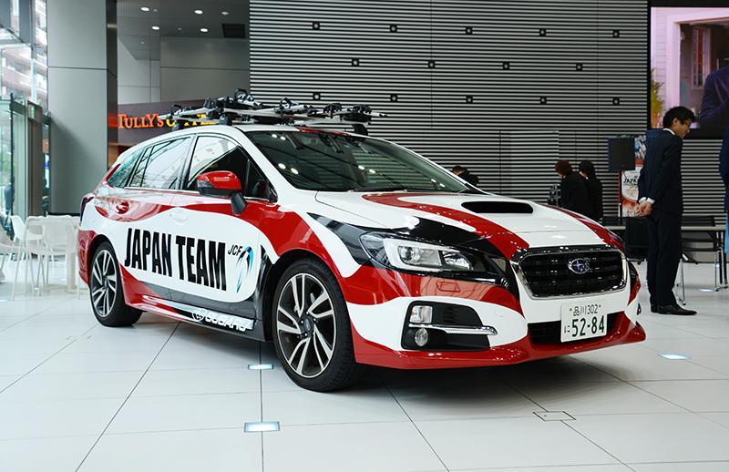 [oshigoto]10月17~18日開催の「2015ジャパンカップサイクルロードレース」で使用するサポート車両@レヴォーグのデザインを担当させていただきました。迫力の隈取です。http://t.co/CP7rkqpKQp http://t.co/QkuurJfMMZ