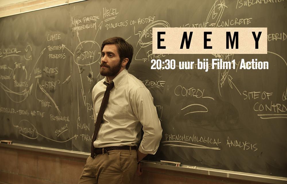 Jake Gyllenhaal heeft een dubbelganger in de psychologische thriller Enemy. Vanavond om 20:30 op Film1 Action. http://t.co/Ag3FHCowuz