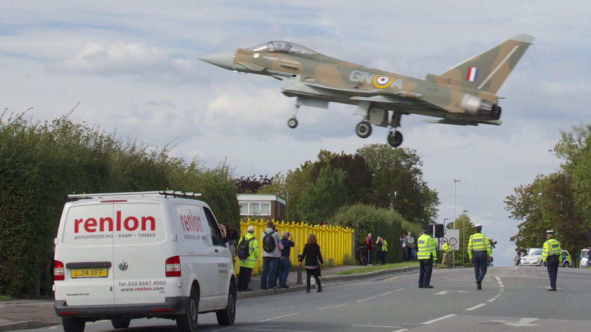 So I stopped the van and then… @RAFTyphoonTeam lands @RAFNortholt this afternoon. http://t.co/FENDny8yjr