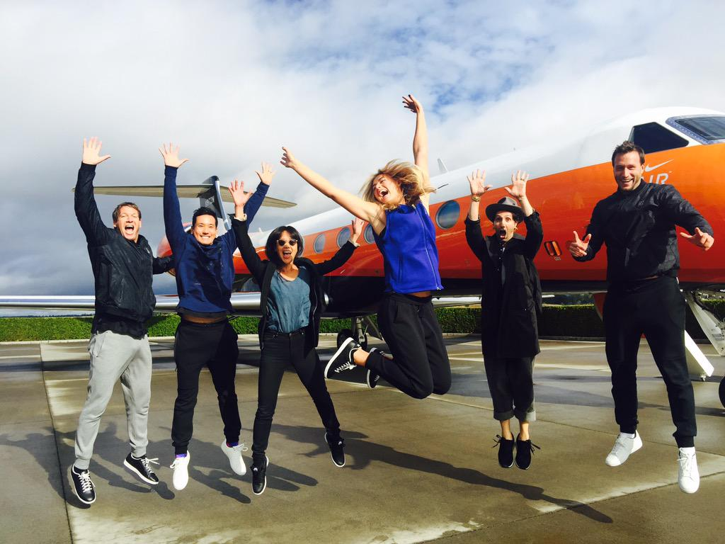 Special arrival with team and @nike in Portland. http://t.co/PJf83ujvFa