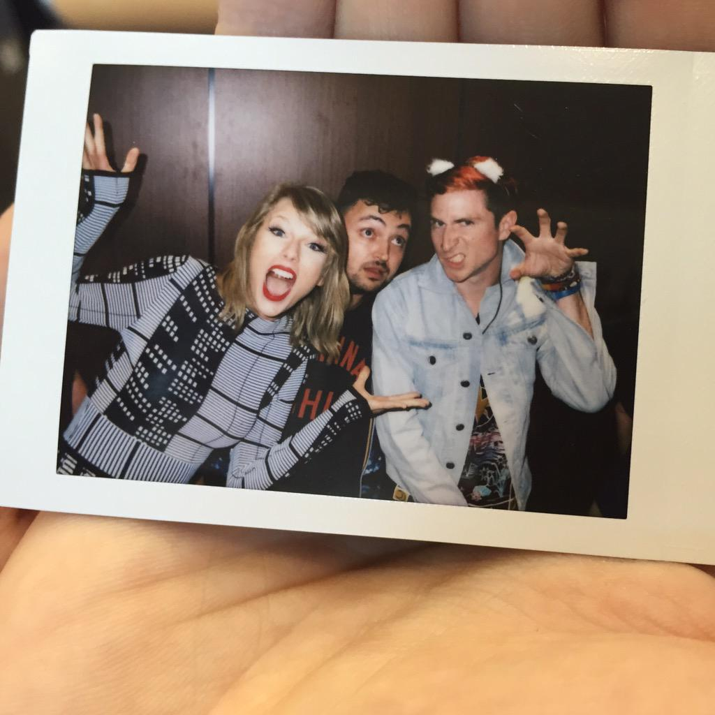 #tbt to that Polaroid life w/ @taylorswift13. Kind of freaking out in anticipation of @theryanadams' version of 1989. http://t.co/6Pk6uQBaLX