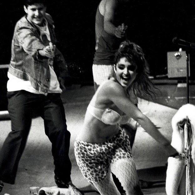 On Stage at MSG almost 30 years ago getting destroyed with water guns by Beastie Boys‼️ #rebelhearttour http://t.co/dob9w0gCdh
