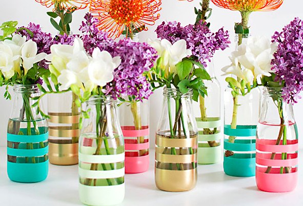Trending on pinterest: diy painted bottles. perfect for ...