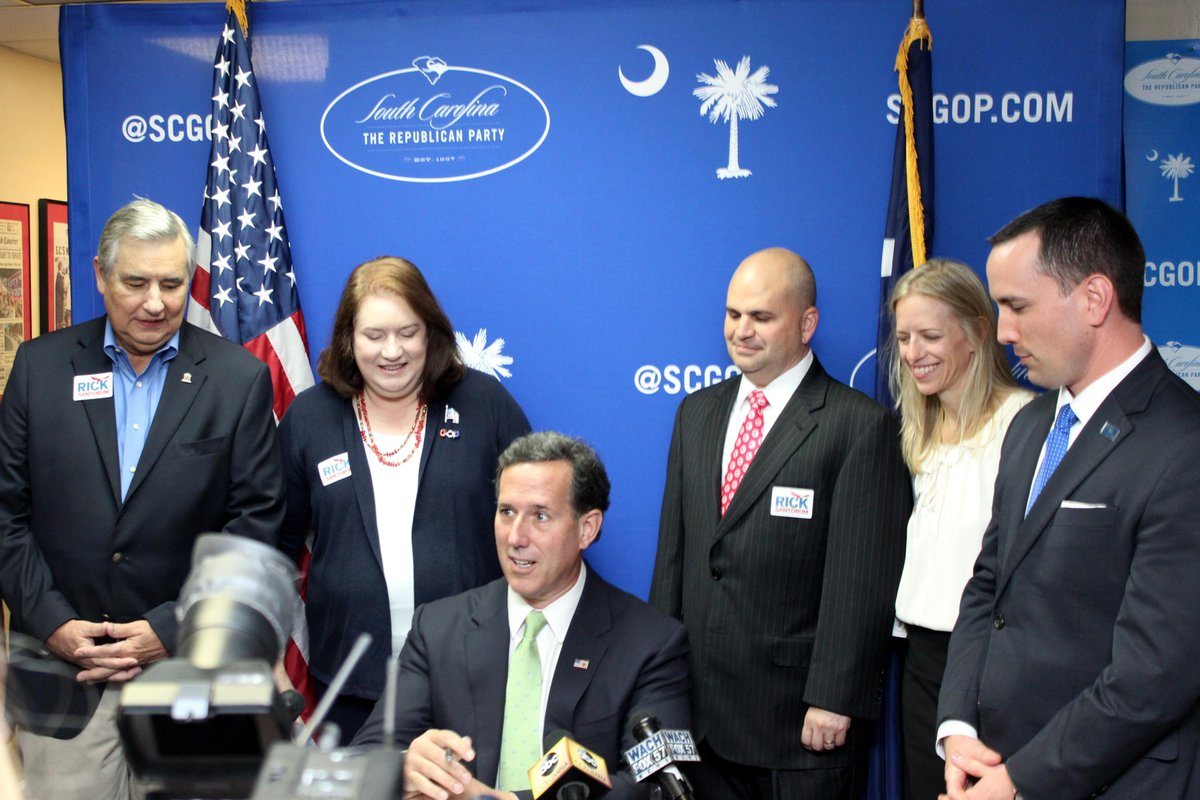 .@RickSantorum is officially a South Carolina Presidential primary candidate! #sctweets #scprimary http://t.co/SxyRRNcvzH