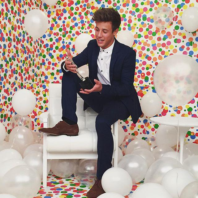 Congrats @camerondallas on your epic win at the #StreamyAwards last night!