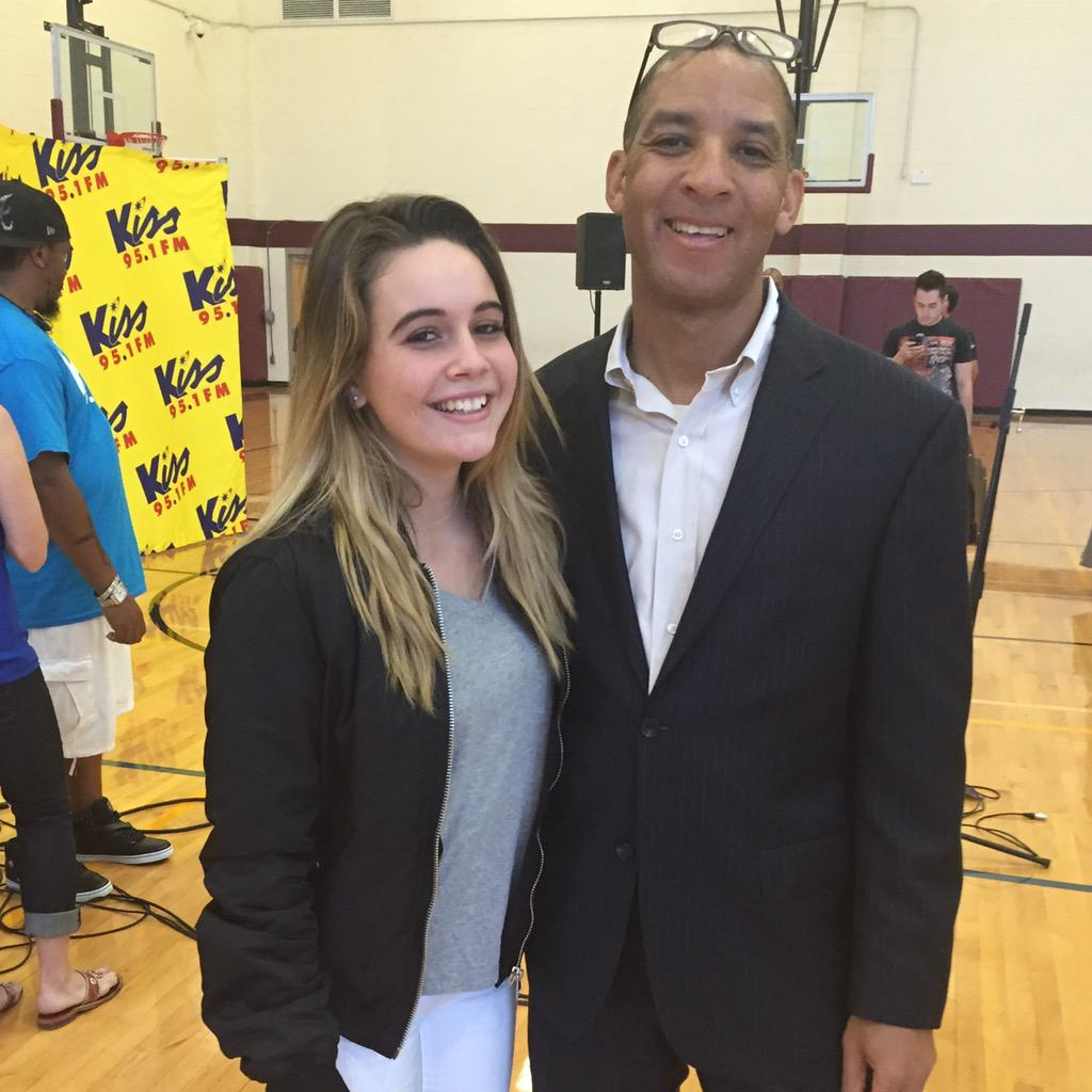 Thanks @BeaMiller for coming to our @CharMeckSchools Stand Up Speak Out Anti Bully Pep Rally today! @BeasleyMedia http://t.co/AXjKvlDDyu