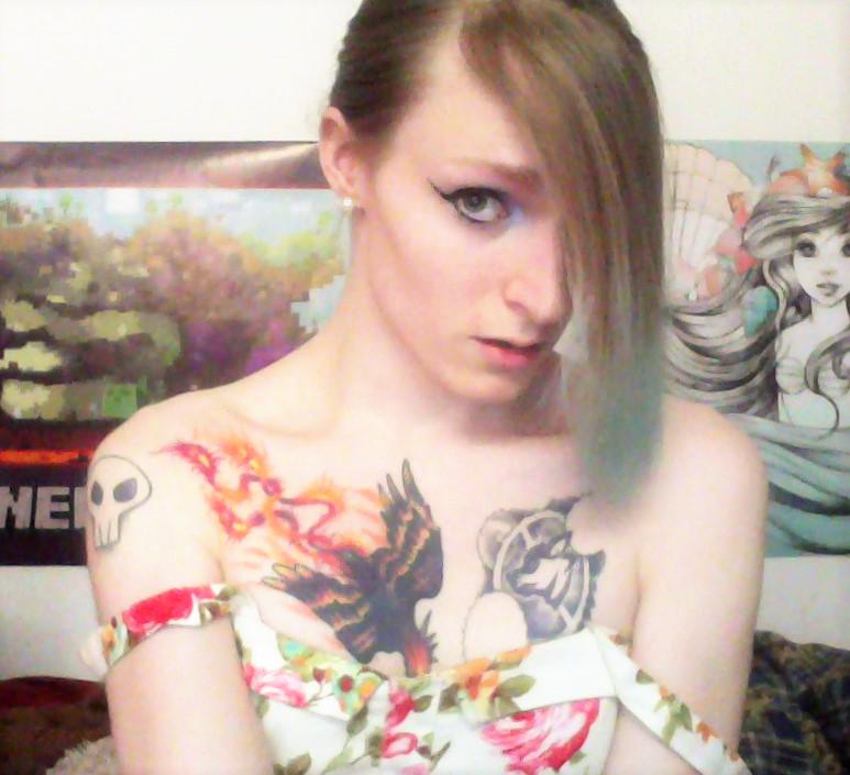 About to go live on #Chaturbate! Cum watch this pretty dress fall off me! #Trans #CamGirl