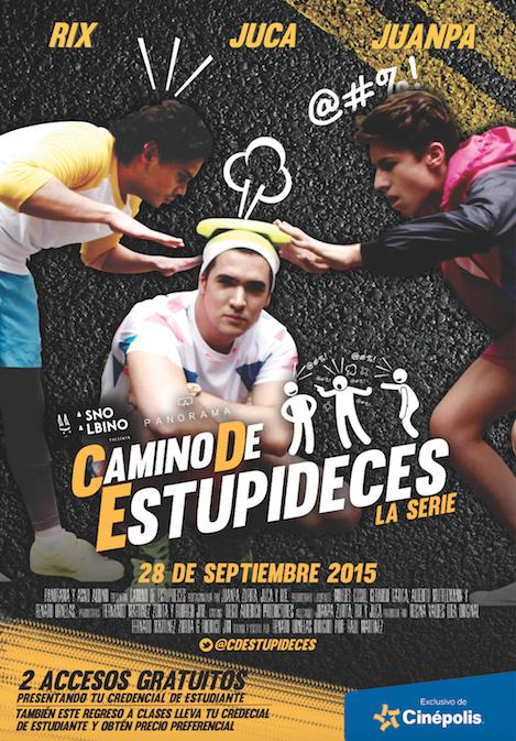 ¿Quieres ver el estreno de @CDEstupideces antes que nadie? ¡Ven a verlo con nosotros! #10DíasParaCaminoDeEstupideces http://t.co/2JWzvnb4PS