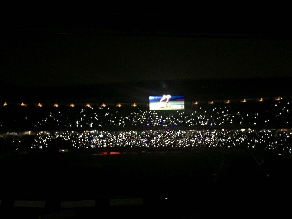 日産スタジアム、綺麗だよー! http://t.co/cyuUqipRou