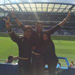 Happy to celebrate the Victory of Chelsea FC with Navra @Riteishd & my favourite @juniorbachchan - http://t.co/IYVT3tVaiI