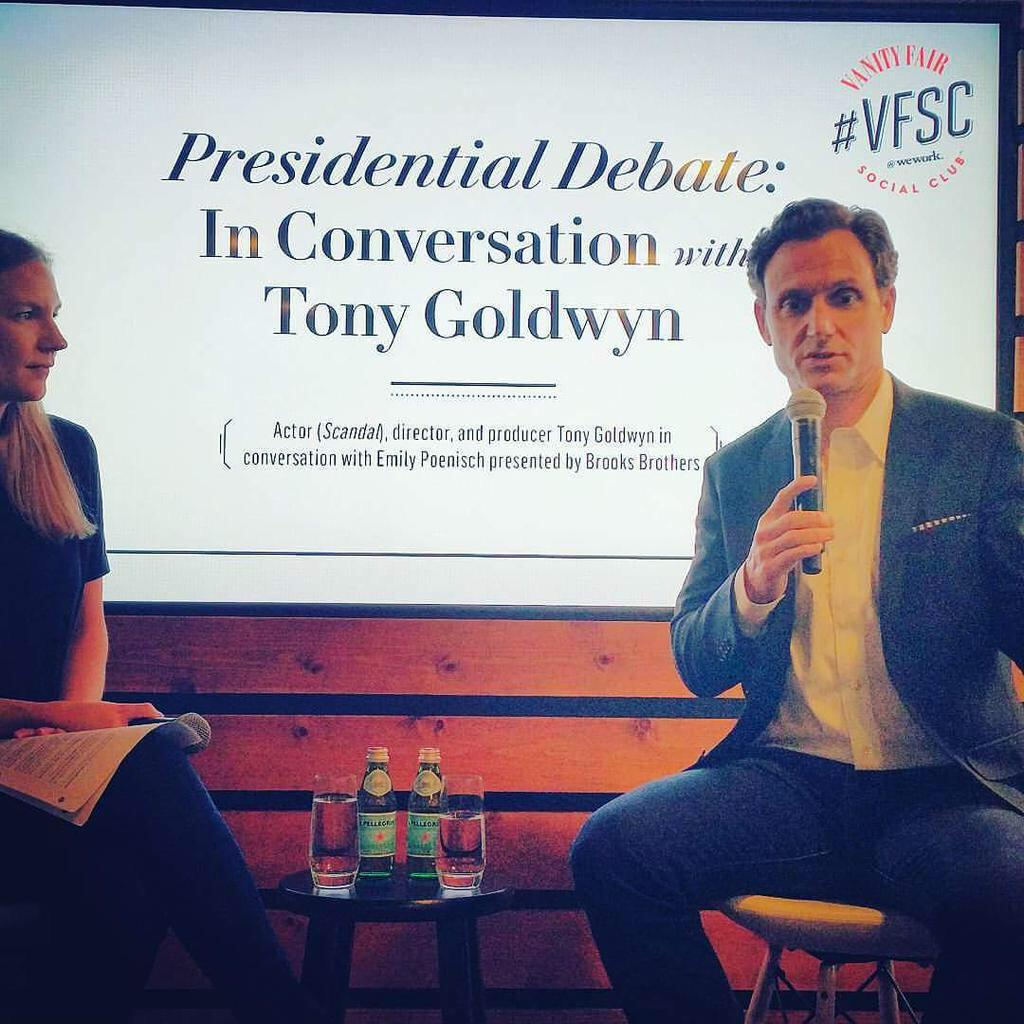 """I love your entrepreneurial spirit! @tonygoldwyn #biz of acting. """"Commit to your passion...""""#VFSC @vfagenda http://t.co/FdngsxQi1v"""