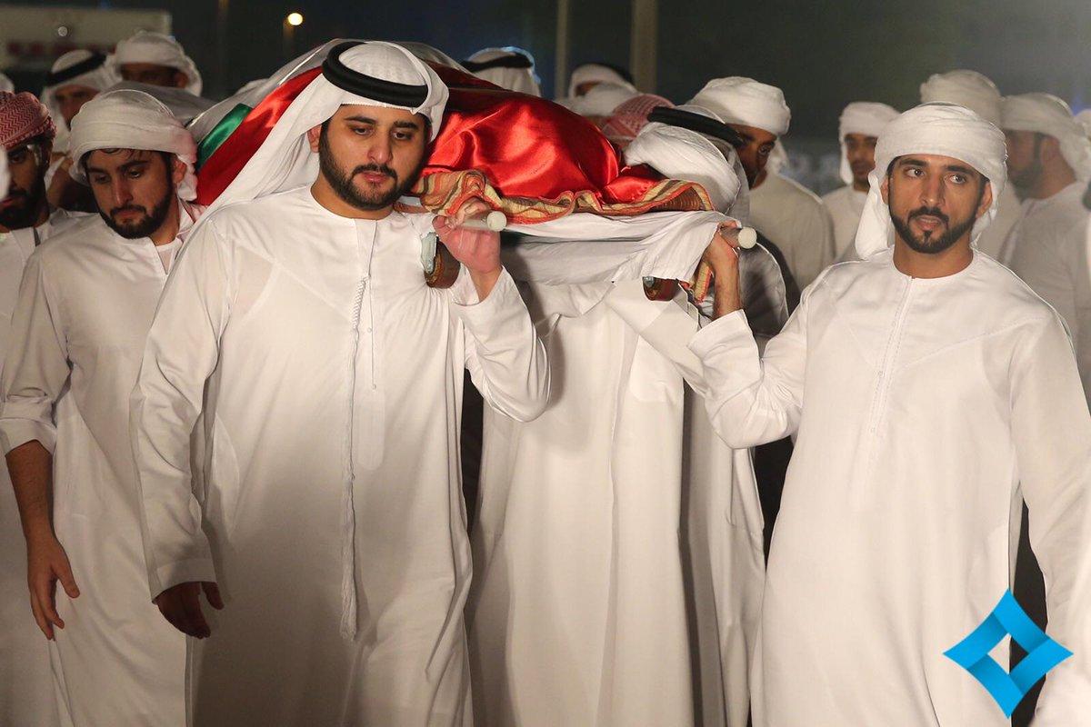 Sheikh Rashid: Burial of Sheikh Rashid bin Mohammed bin