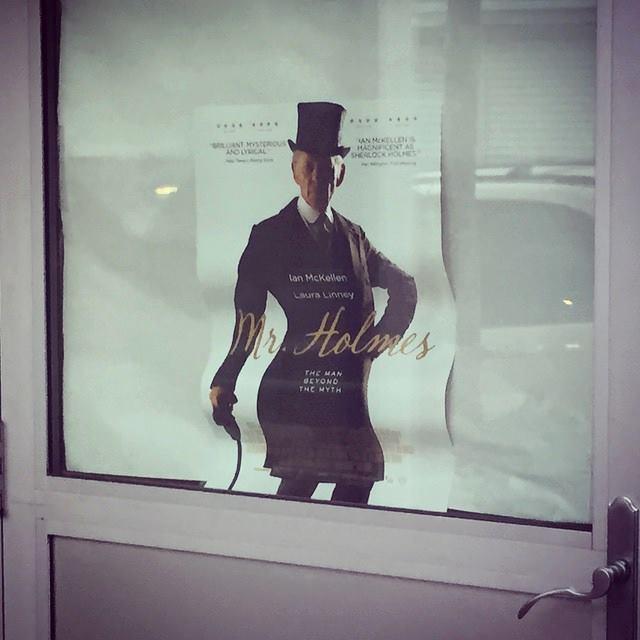 "Found on FB ""When these Mr. Holmes posters warp, Sir @IanMcKellen gets VERY sassy."" http://t.co/9ZVNuum621"