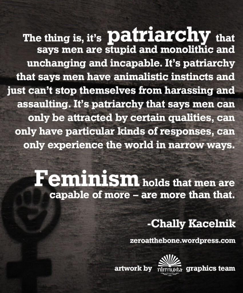 """Feminism holds that men are capable of more -- are more than that."" http://t.co/KBvUH4jvuf"