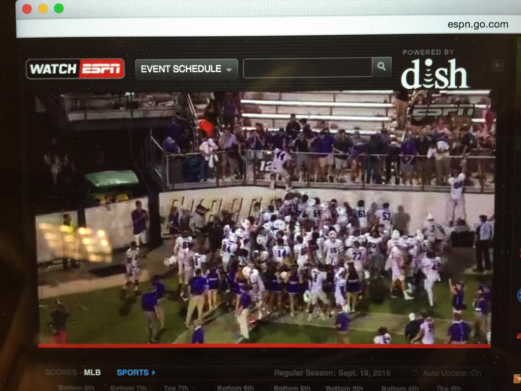 "Love the @espn 3 announcers!  ""@FurmanU has just shocked the nation!!"" #furman!! http://t.co/vQ3NorS2ue"