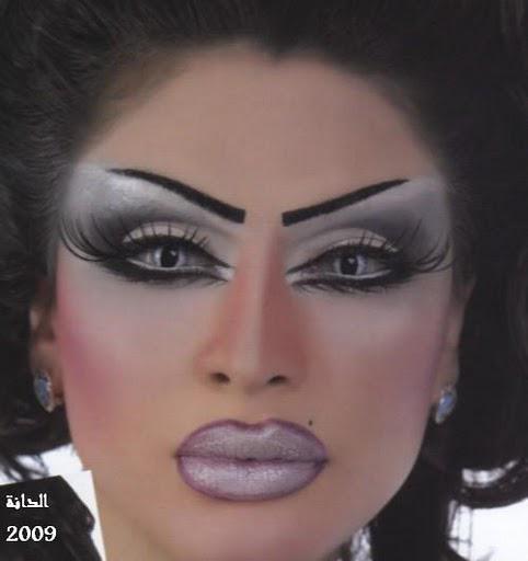 Тяжелый макияж