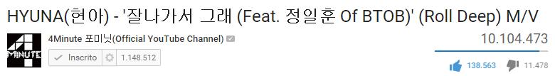 """[♥] HyunA's """"Roll Deep"""" MV has reached 10 million views! http://t.co/6bwWArlsYq"""