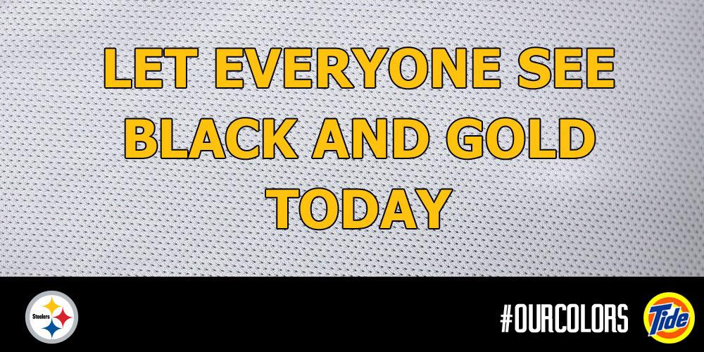 .@TideNFL, #OurColors looked great today. RT this and make sure everyone sees a little Black and Gold. http://t.co/xPfQZ7YEr3