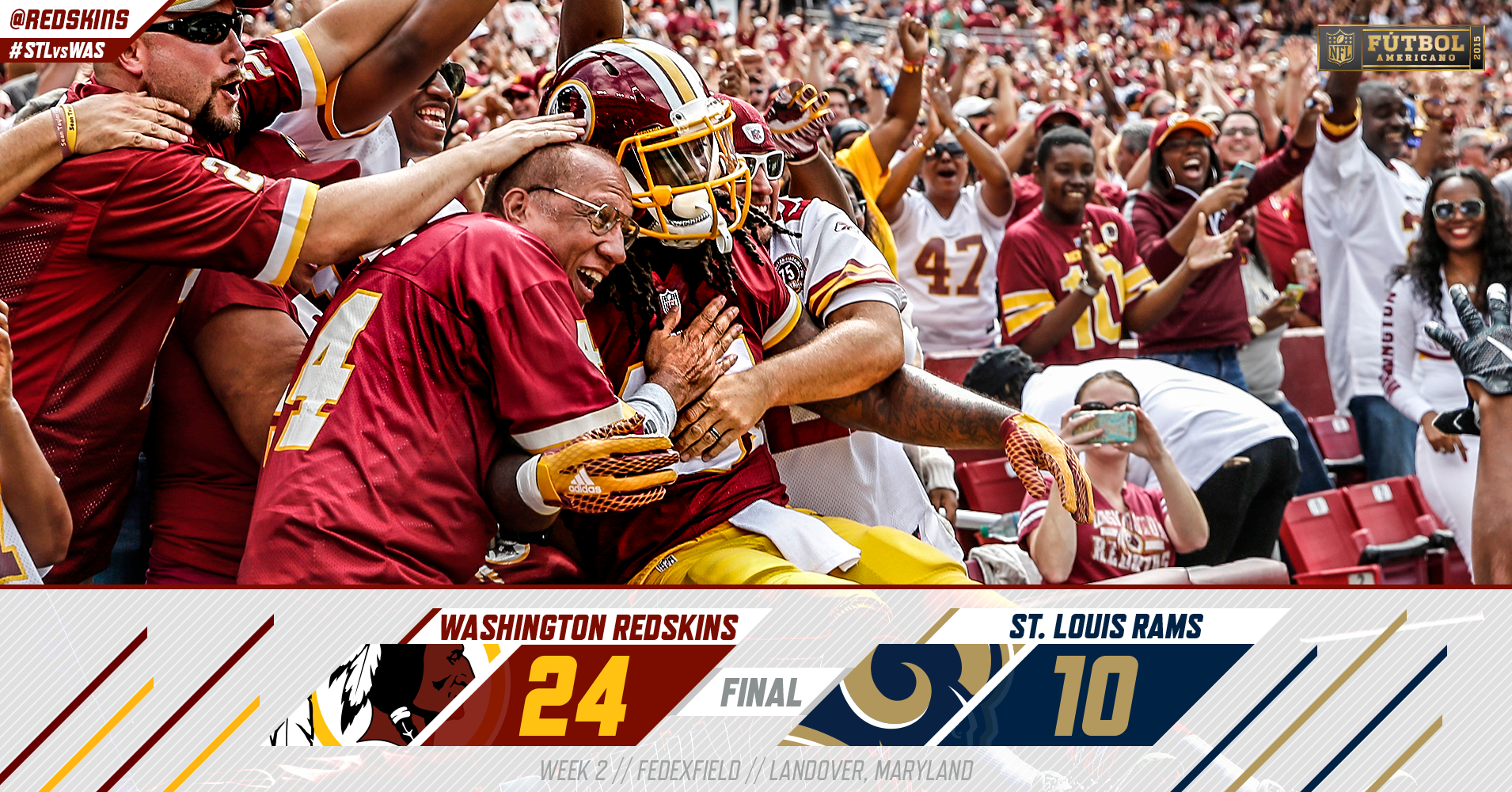 PUT IT IN THE BOOKS!  #Redskins earn victory No. 1 with a 24-10 win over the Rams!  #STLvsWAS #HTTR http://t.co/QcIt4DllUm