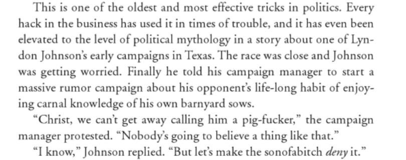 This David Cameron story is literally nothing but the old LBJ story, most famously told by Hunter S. Thompson.* http://t.co/Re5w4Re8k6