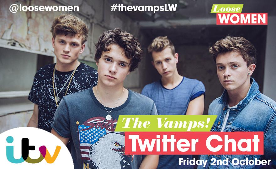 #TwitterChat with @TheVampsJames @TheVampsBrad @TheVampsCon @TheVampsTristan on Friday! Info: http://t.co/KYw1NiEARr http://t.co/0cQIx5yjT8