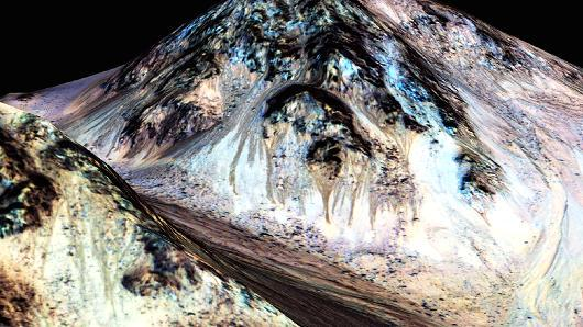 BREAKING: NASA says evidence found of 'flowing liquid water' on Mars. http://t.co/naqRhU4tVP http://t.co/VWpUNQwfMw