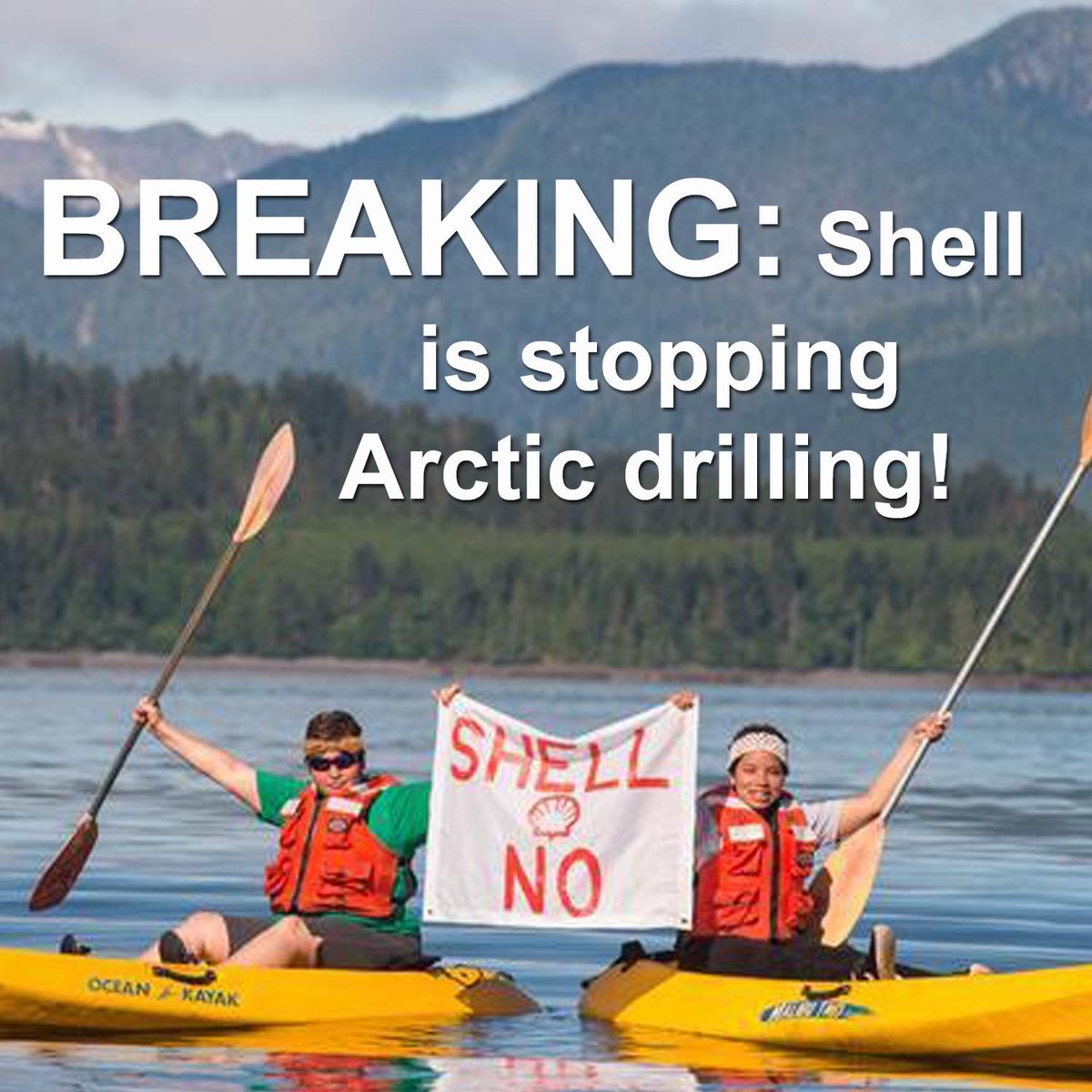 RT @GreenpeaceCA: BREAKING: Shell is ceasing Arctic drilling! http://t.co/YGwgyTrpWU #ShellNo #savethearctic http://t.co/nGTorv6RdL