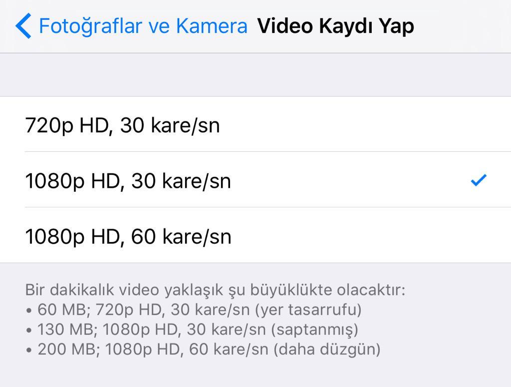 16GB'lık bir iPhone kullanıyorsanız şu ayarlar size hafıza kazandırabilir...  Ayarlar> Fotoğraflar ve Kamera> http://t.co/4pQBdKbGvn