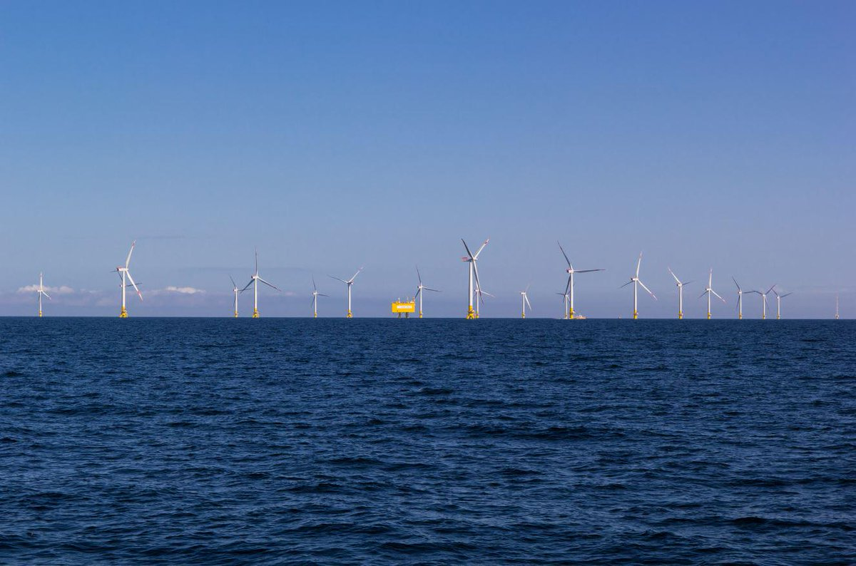 Es ist geschafft! Unser #Offshore-#Windpark #EnBW #Baltic2 geht heute offiziell in Betrieb. #Energiewende http://t.co/mZclTxt75v