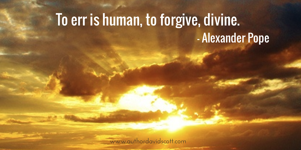 to err is human to forgive divine When you hold onto the sins and shortcomings of others, it hurts you forgiveness can release you of that pain to err is human but to forgive feels divine.