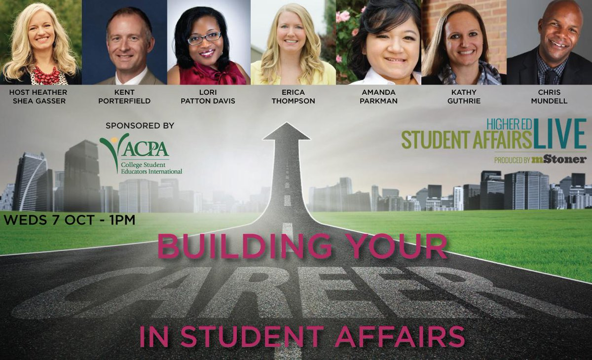 Considering a career in #StudentAffairs? #CSAM15 is Oct-tune in to learn more! http://t.co/TvQrCAQFxg @ACPA #SAchat http://t.co/5g9Y5bGxl0