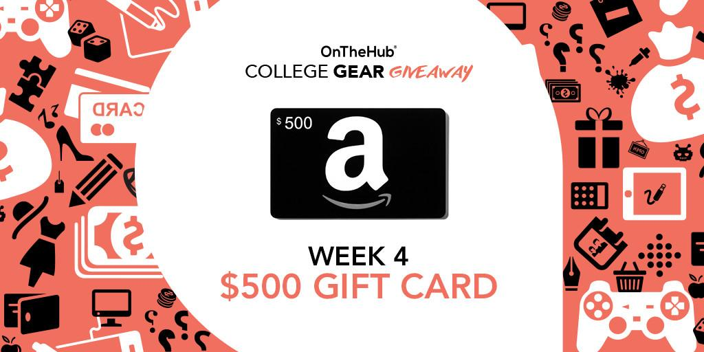 We're giving away a $500 @Amazon gift card this week!
