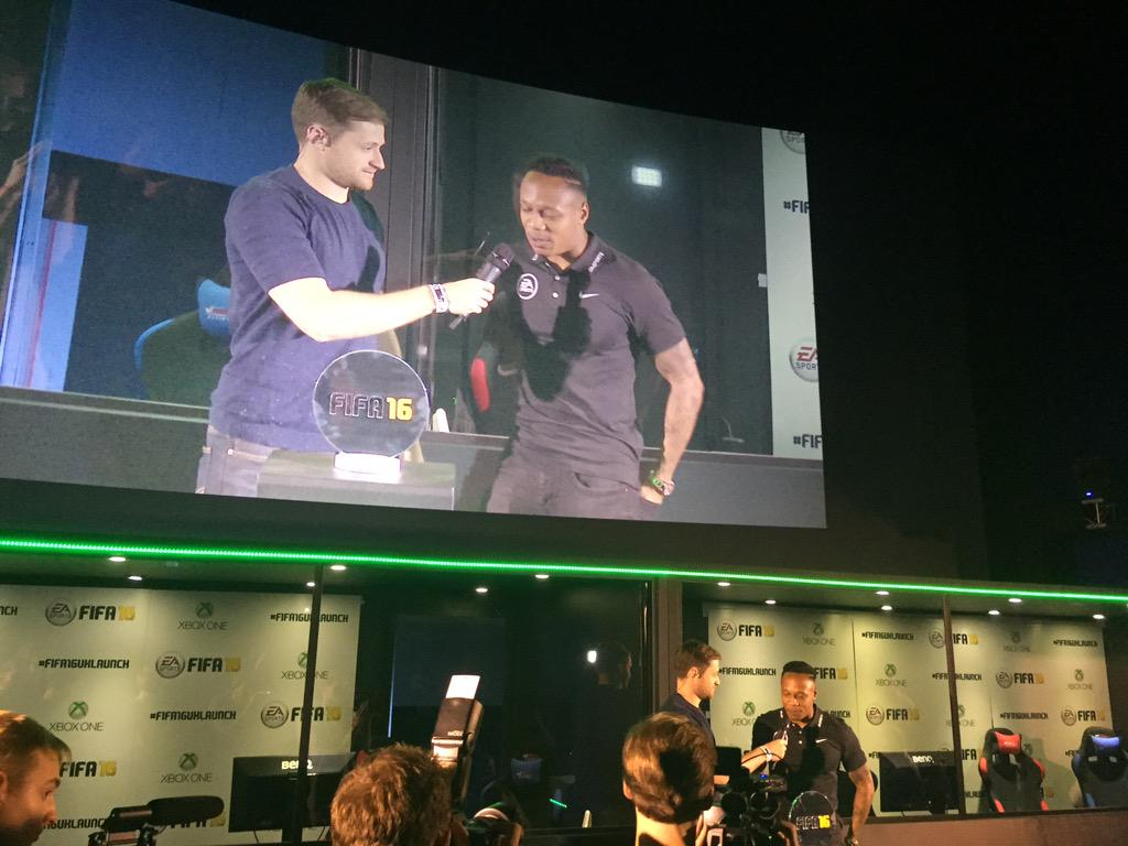 And @Nathaniel_Clyne wins the FIFA 16 Celebrity Cup #FIFA16UKLAUNCH http://t.co/sdhS58uats