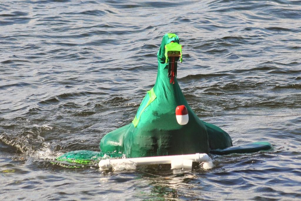 Come see robot sea monsters light targets on fire on lake ...
