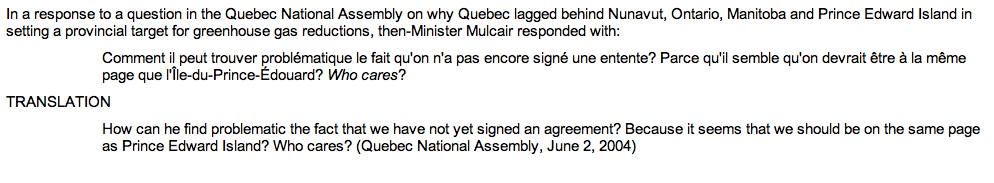 "In an exchange from 2004 when Mulcair was Quebec's enviro minister, he says ""who cares"" in relation to P.E.I. #elxn42 http://t.co/AeuqEuJ9TA"