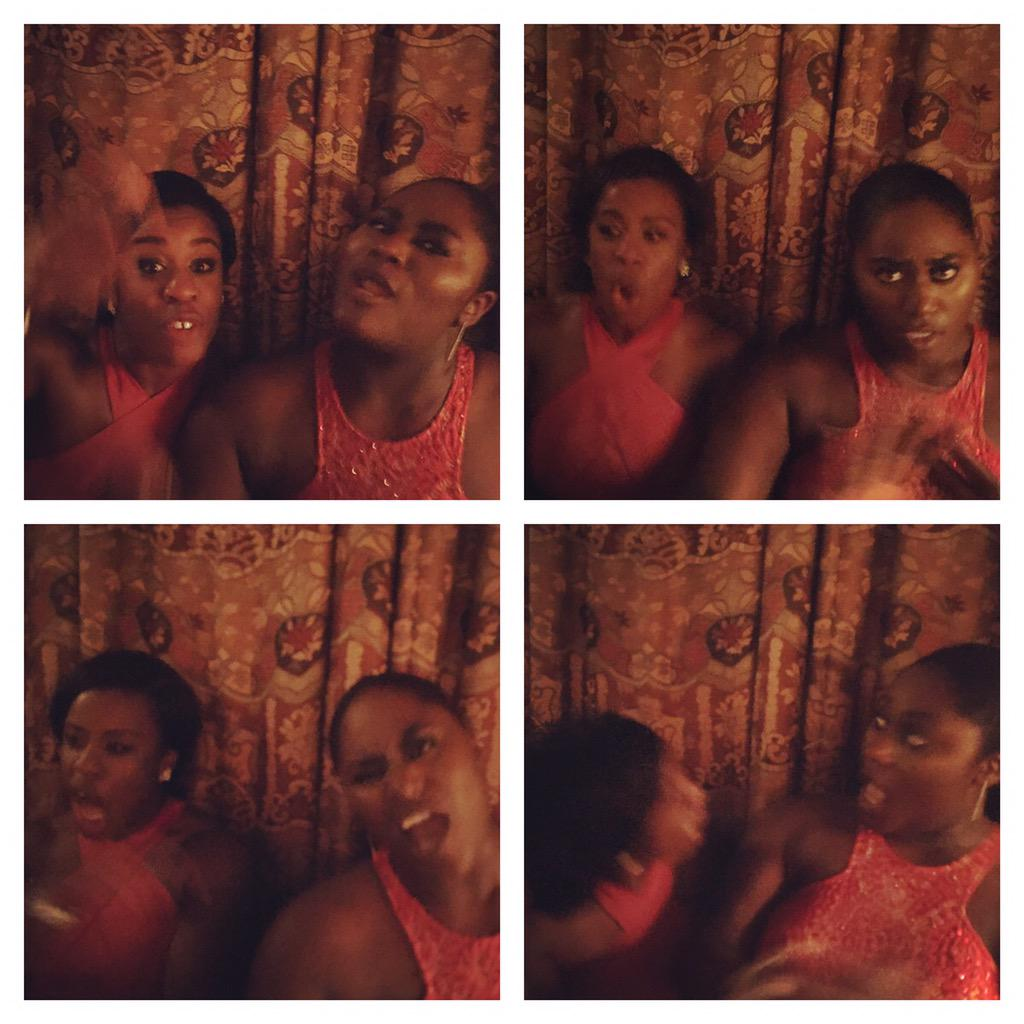 I was trying to take a photo of @UzoAduba and @thedanieb at the Netflix party but their favorite song came on. http://t.co/EYGmLITi56
