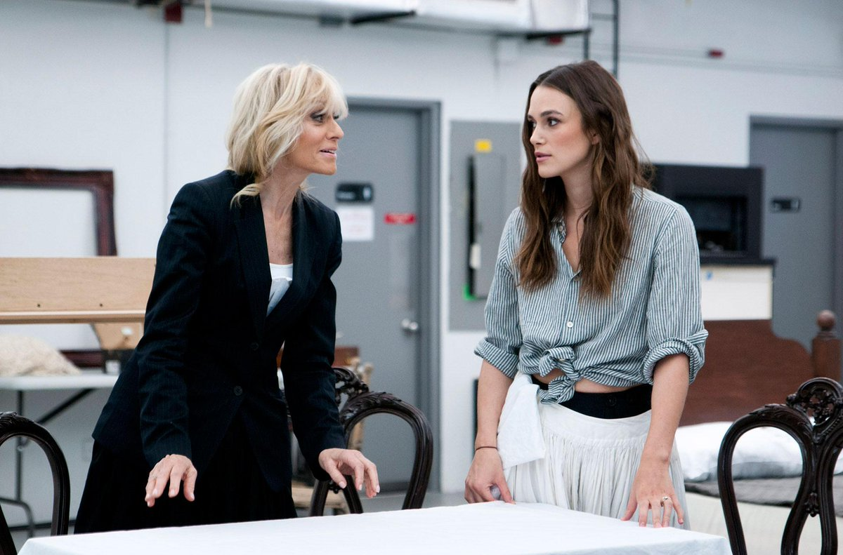 Behind the scenes! In rehearsal for #ThereseRaquin with Keira Knightley, @JudithLight and more. http://t.co/0eI4U3wGWT