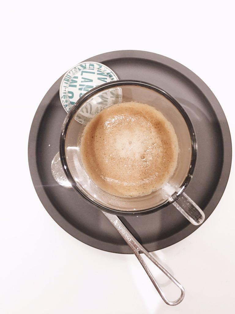Espresso tasting with @NespressoUSA 5 shots instead of one. Ready to #werk #nespressolove http://t.co/2LekSeCTRe