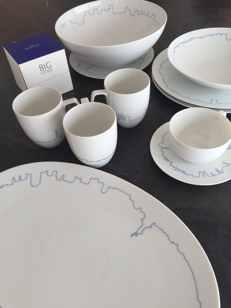 A new view of cities. BIG Cities dinnerware designed by @BjarkeIngels . Our table never looked so good. http://t.co/tNWxoHLziR