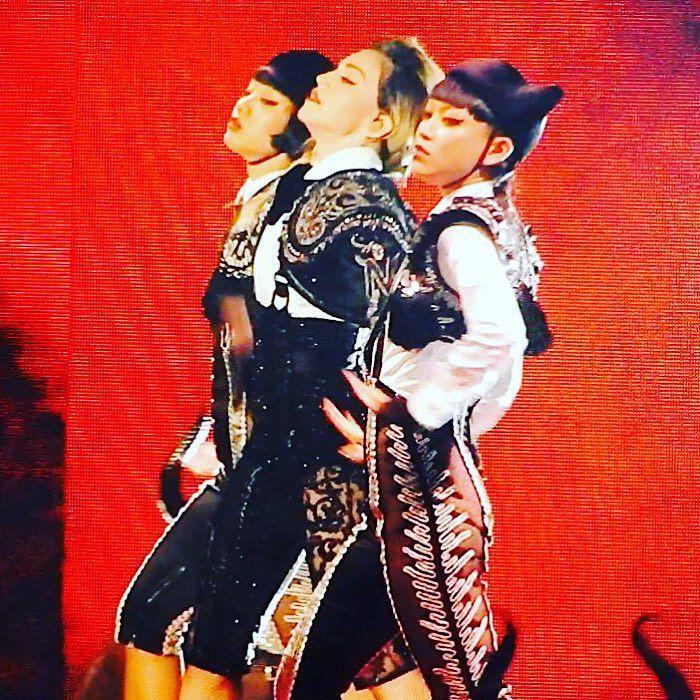 Living For Love with Aya and Bambi! ❤️ #rebelhearttour http://t.co/pl2YJbxjV8