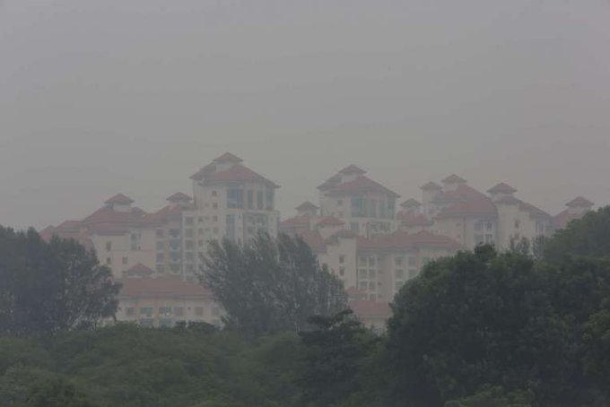 Slight haze on Tuesday as PSI in high end of moderate range http://t.co/RHF862VhhK http://t.co/OKFiamCBkP
