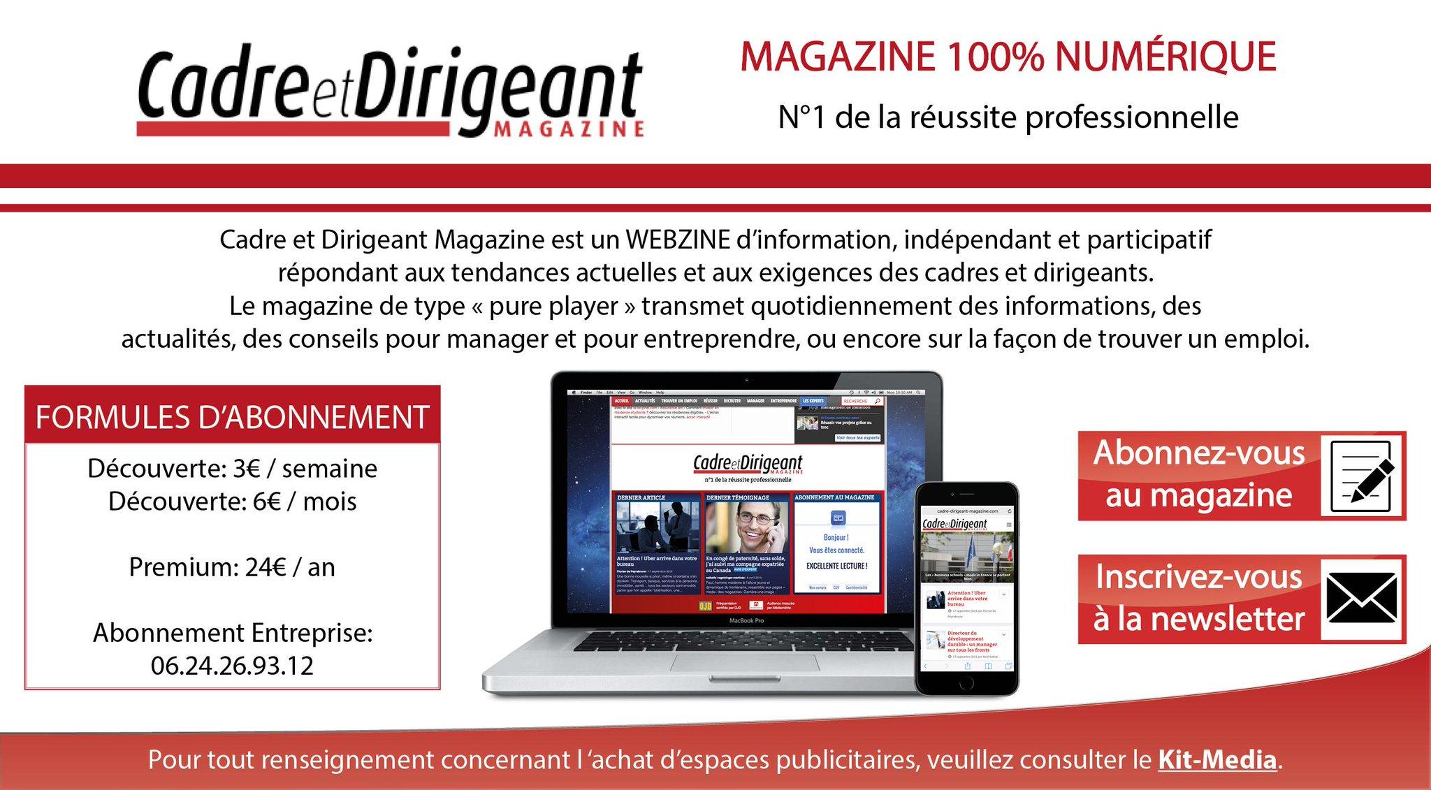 Lisez notre magazine 100% numérique .@CadresDirigeant #ECP15 #UEMEDEF15 #RunOrDyeFrance http://t.co/f8EttMdbw5