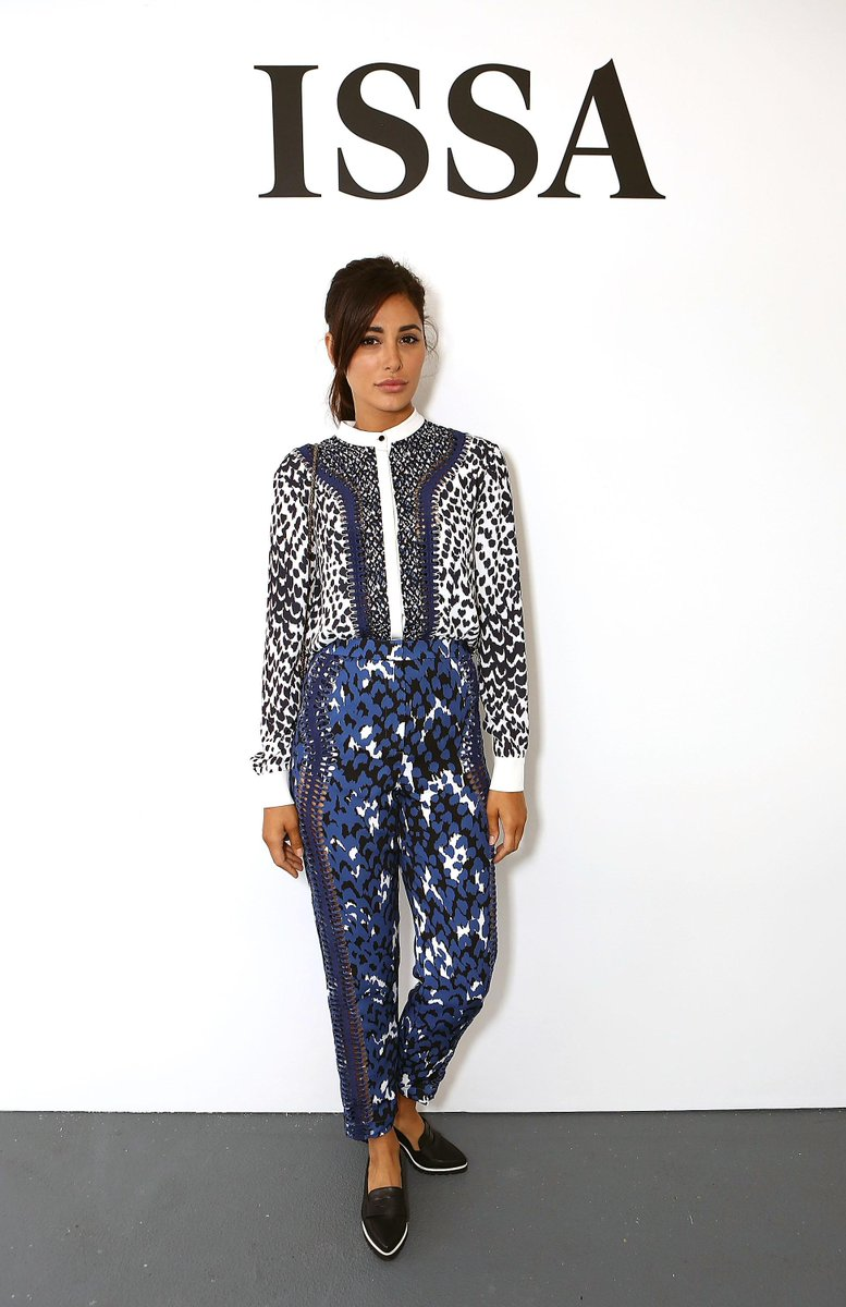 Actress @NargisFakhri wearing @IssaLondon at the S/S16 runway show in London #LFW http://t.co/0qYUNvzPw1